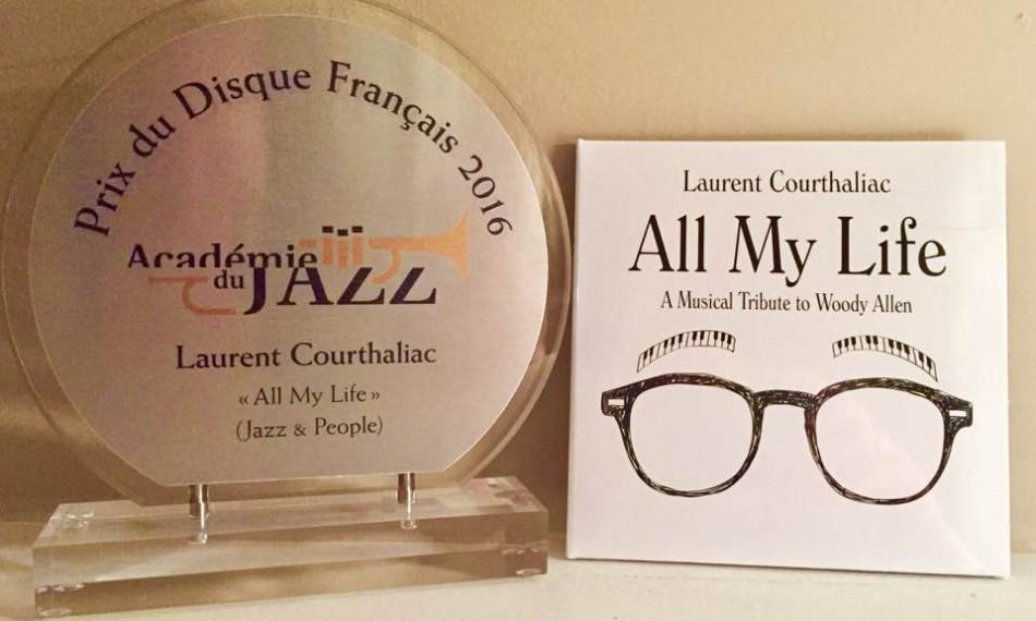 """""""All My Life"""" de Laurent Courthaliac reçoit le prix du """"Disque français"""" de l'Académie du jazz"""